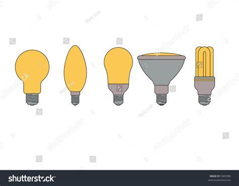 set various types light bulbs 2 stock vector 5909386