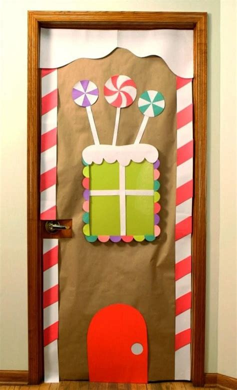christmas door decoration for six graders amazing classroom doors for winter and the holidays