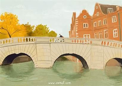 Oamul Illustrator Lu Chinese Lovely Animations Bridge