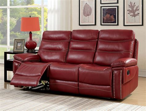 Faux Leather Recliner Sofa by Artemis Contemporary Faux Leather Reclining Sofa With