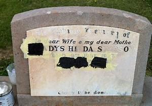 Repair headstone lettering for Gravestone lettering paint