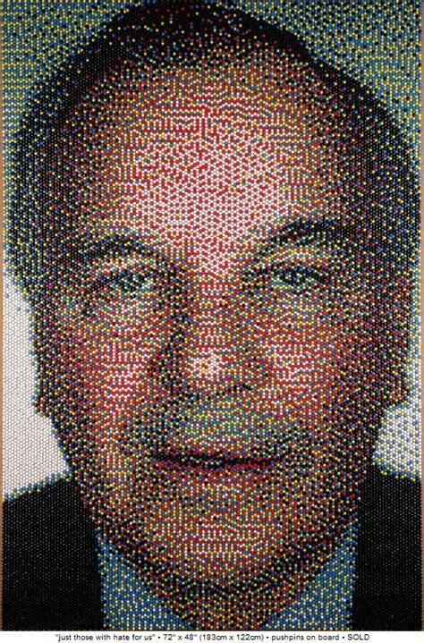 push pin art amazingly realistic portraits bit rebels