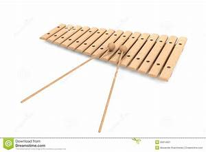 Wooden Xylophone With Mallets Stock Image - Image: 35614621