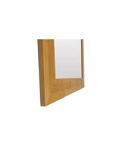 miroir salle de bain a coller miroir mural de salle de bain en bambou andrea house wadiga