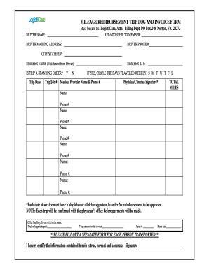 trip log edit  fill   business forms