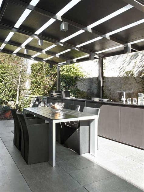 outdoor kitchen pergola houzz