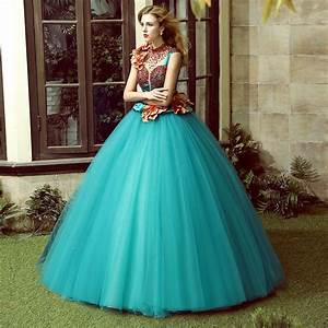 100%real luxury 3d flower embroidery beading ball gown ...