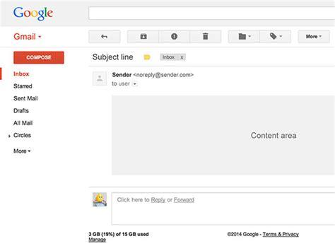 Templates Gmail by Gmail Ui Psd Template Freebiesbug