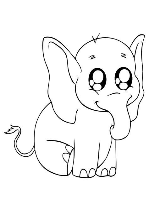 elefante del bambino disegno  profilo illustrazione
