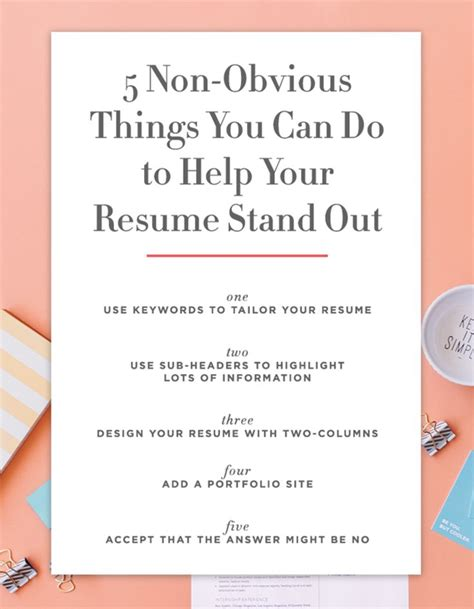 5 non obvious things you can do to make your resume stand
