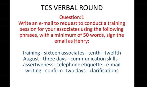 tcs email writing question  answer  youtube