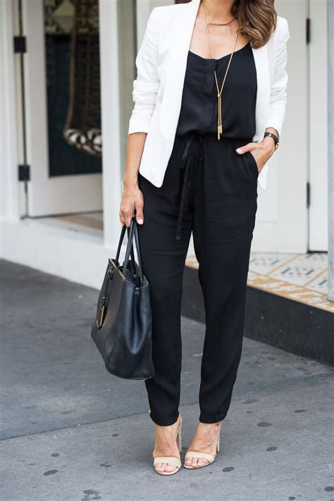 jumpsuit with blazer best 25 black jumpsuit ideas on black