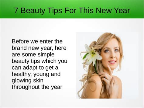 7 Beauty Tips For This New Year