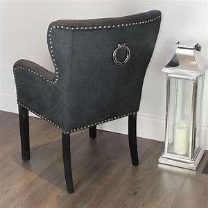 About A Chair : black studded dining chair with arms silver ring ~ A.2002-acura-tl-radio.info Haus und Dekorationen