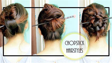 diy chopstick hairstyles summer updo youtube