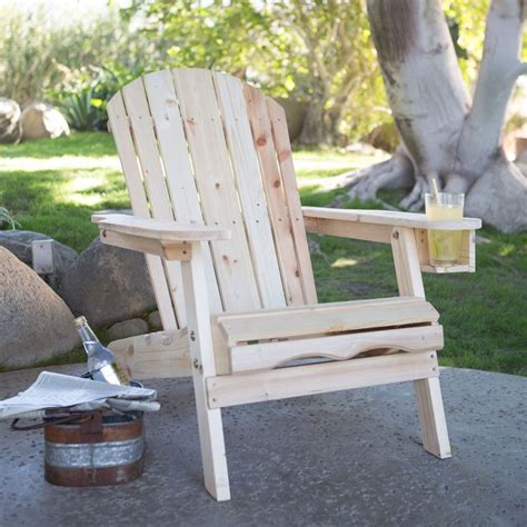 unfinished fir wood adirondack chair with