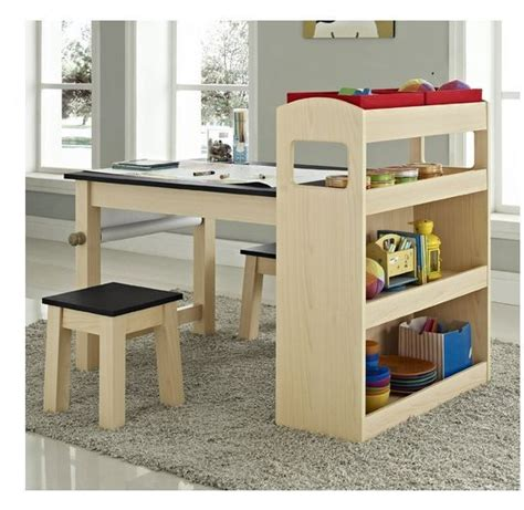 kids activity desk table furniture chair storage play