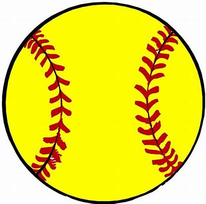 Softball Clip Clipart Ball Background Draw Clipartion