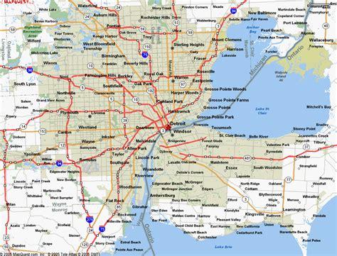 map  detroit mi