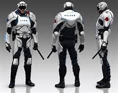 future police officer source www parandi com   Body armour   sci-fi      Futuristic Police Officer