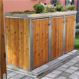 Balkongeländer Selber Bauen : mb8 3er m lltonnenbox holz edelstahl 120 240 liter ~ Lizthompson.info Haus und Dekorationen