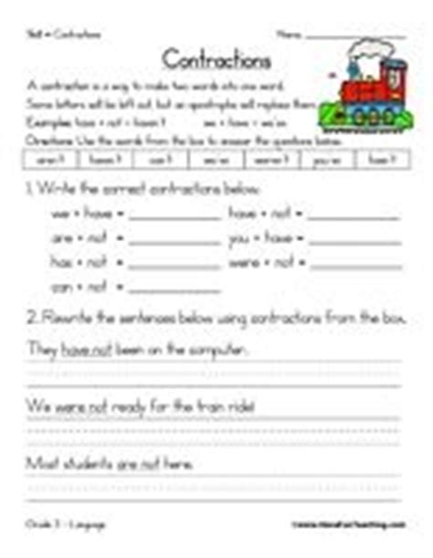 Contractions Worksheet  Worksheets And Language