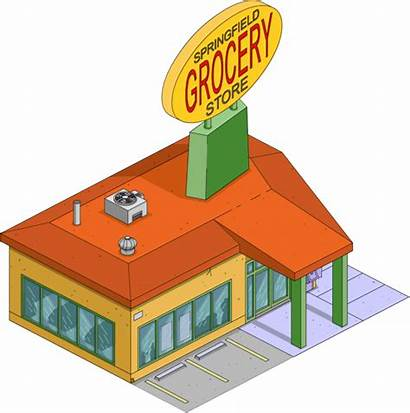 Grocery Clipart Springfield Simpsons Building Tapped Shopping