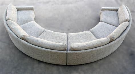 Circular Loveseat by Milo Baughman Semi Circular Sofa At 1stdibs