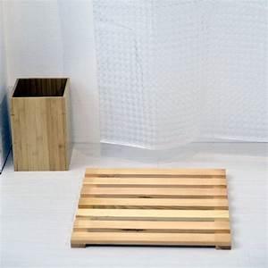 Tapis De Bain Bois : caillebotis anti d rapant bois naturel tapis de bain eminza ~ Melissatoandfro.com Idées de Décoration