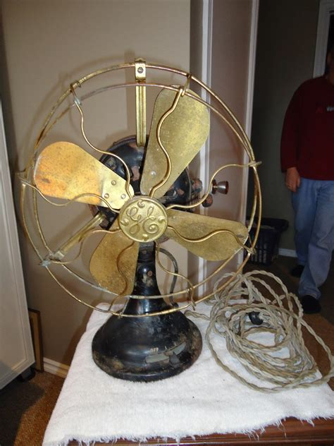 antique general electric brass fan from sweetcandy on ruby