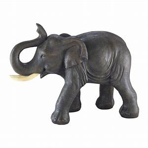 Statue Bouddha Maison Du Monde : cumba grey resin elephant statuette h 36 cm maisons du monde ~ Teatrodelosmanantiales.com Idées de Décoration