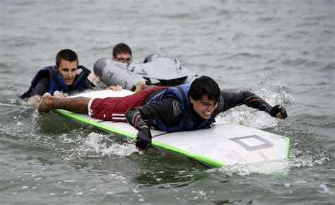 Uconn Cardboard Boat Race by The Day Students Race Recyclables In Annual Avery Point
