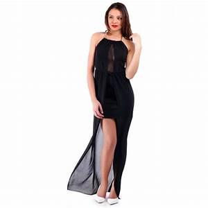 robe dos nu noire pas cher avec voile With robe dos nu pas cher