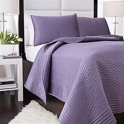 Lavender Coverlet by Vince Camuto 174 Basel Coverlet In Lilac Bed Bath Beyond