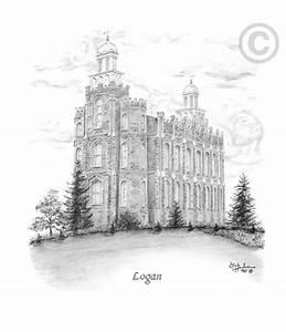 Logan Utah Temple - Sketch in Temple LDSBookstore com (#
