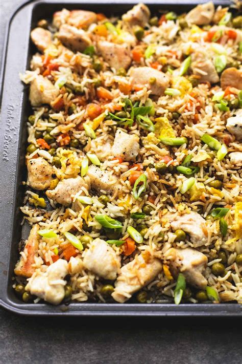 fried rice chicken pan sheet fry baked stir easy ready prep chinese dinners minutes lecremedelacrumb creme crumb comfort minute every