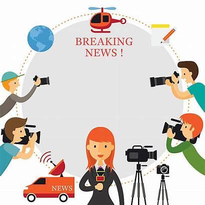 Reporter Report Vector Clipart Cameraman Frame Mass