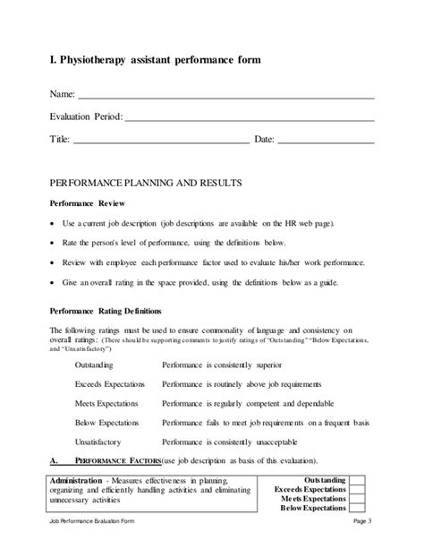 Museum Education Coordinator Resume by Physiotherapy Assistant Perfomance Appraisal 2
