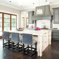 blue velvet bar stools transitional kitchen bhg