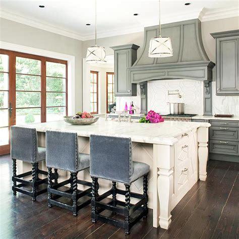 counter stools for kitchen island blue velvet bar stools transitional kitchen bhg