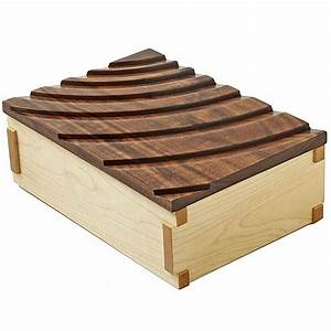 Rippling-Waves Keepsake Box Woodworking Plan from WOOD
