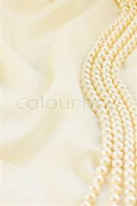 Pastel silk with pearls border abstract background   Stock ...
