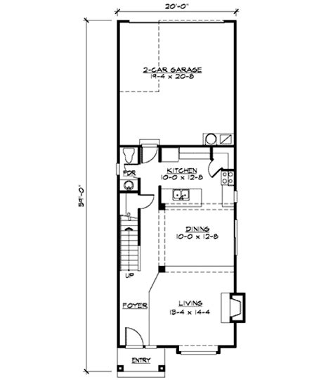 floor plans for narrow lots open floor plan for narrow lot 23432jd 2nd floor