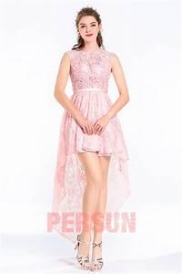 robe soiree rose courte devant longue derriere dentelle With rinascimento robe de soirée