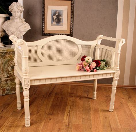 how to get shabby chic look nostalgische sitzbank shabby chic weiss antik look ebay