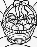 Coloring Easter Basket Baskets Egg sketch template