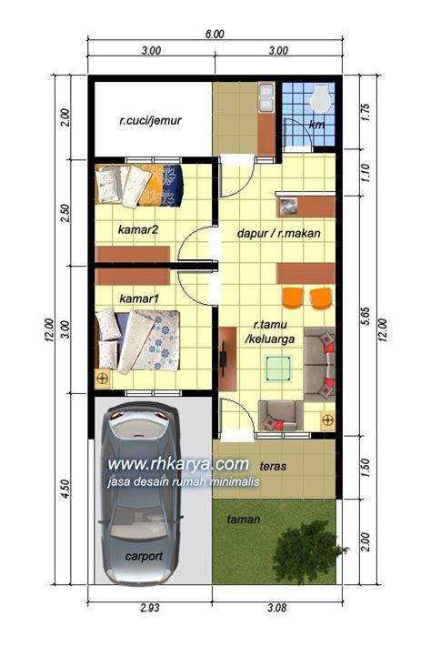 desain rumah ukuran  meter type  nuansa krem jasa