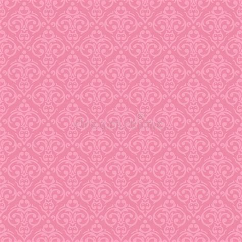 Seamless Baroque Damask Pink Background Stock Vector