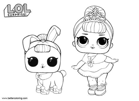 Lol Pets Kleurplaat by Lol Pets Coloring Pages And Bunny