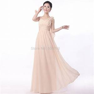 Cheap bridesmaid dress champagne color 2017 chiffon long for Cheap wedding party dresses